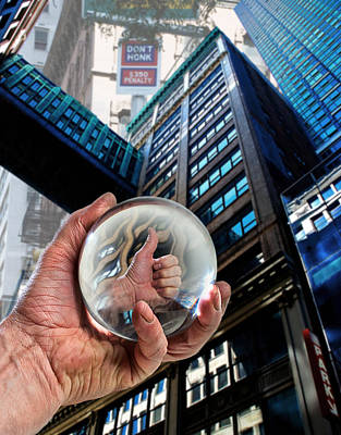 Newyork Digital Art - Looking Up In Ny by Rick Mosher