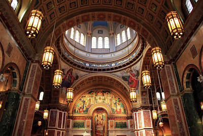 Photograph - Looking Up In Saint Matthew's Cathedral by Cora Wandel