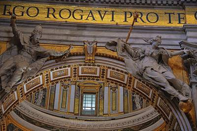 Photograph - Looking Up In St Peter's by JAMART Photography