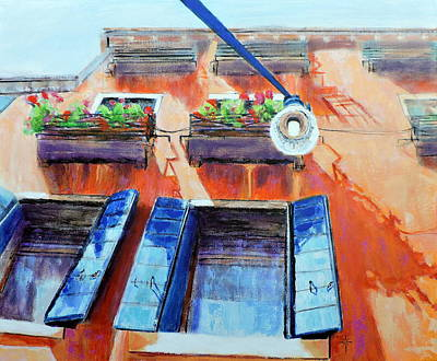 Painting - Looking Up In Venice by Jodie Marie Anne Richardson Traugott          aka jm-ART