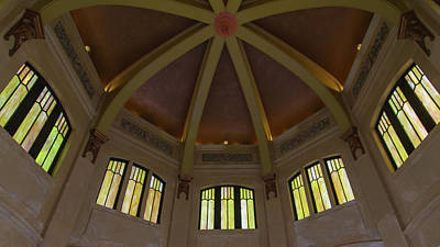 Photograph - Looking Up In Vista House by Paul Rebmann