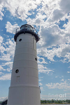 Photograph - Looking Up Manistee Lighthouse by Jennifer White