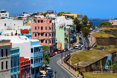 Photograph - looking up Norzagaray Street in Old San Juan by Steven Spak