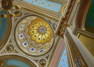 Photograph - Looking Up - Saint Mary Of The Angels - Chicago by Nikolyn McDonald
