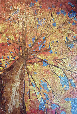 Mixed Media - Looking Up by Sandra Wallace