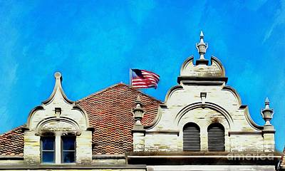 Art Print featuring the photograph Looking Up - Scranton Proud by Janine Riley