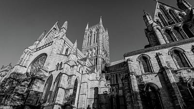 Photograph - Looking Up South Transept And Tower Of Lincoln Cathedral by Jacek Wojnarowski