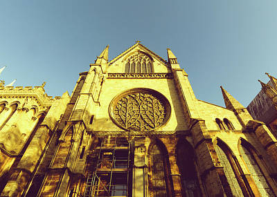 Photograph - Looking Up South Transept Of Lincoln Cathedral by Jacek Wojnarowski