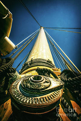 Photograph - Looking Up The Mast by Nick Zelinsky