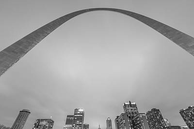 Photograph - Looking Up To The Gateway Arch by John McGraw