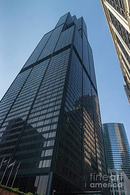 Photograph - Looking Up Willis Tower by Jennifer White