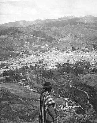 Looking West Over Quito Art Print by Underwood Archives