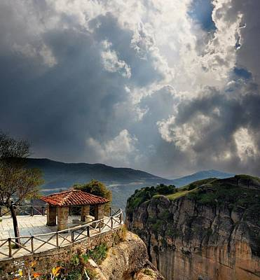 Lookout In The Mountains Of Meteora, Greece Original