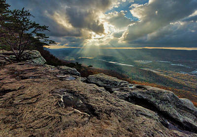 Photograph - Lookout Mountain Sunset by Andy Crawford