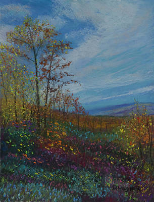 Pastel - Lookout On Thickhead Mountain by Denise Wagner