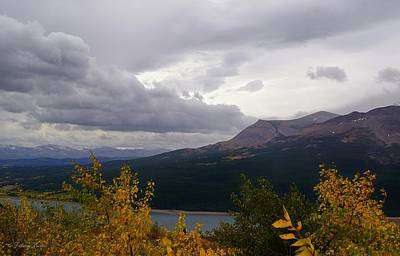 Photograph - Lookout Point Over Lower Two Medicine Lake  by Tracey Vivar
