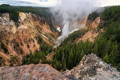 Photograph - Lookout Point Yellowstone Canyon_grk7642_05272018-hdr  by Greg Kluempers
