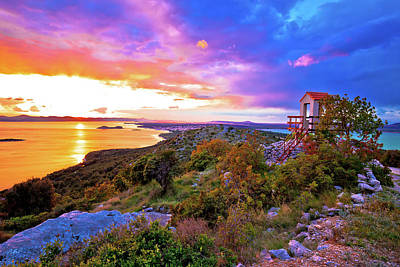 Photograph - Lookout Tower Above Pakostane Archipelago At Golden Sunset View by Brch Photography
