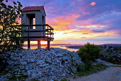 Photograph - Lookout Tower Above Pakostane Archipelago  by Brch Photography