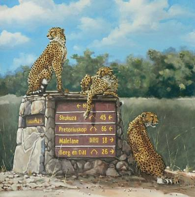 Painting - Lookouts by Robert Teeling