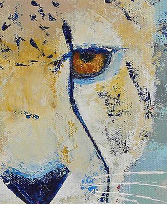 Looks Can Be Deceiving Close-up Art Print by Karen Macek