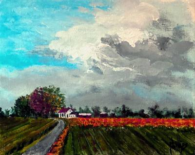 Painting - Looks Like Rain by Jim Phillips