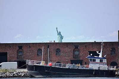 Photograph - Looming Lady Liberty 1 by Nina Kindred