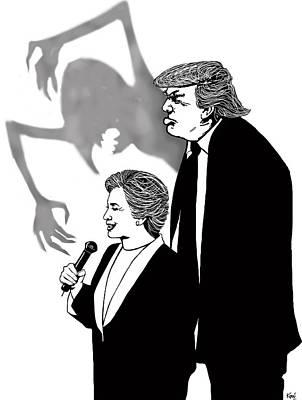 Looming Digital Art - Looming Trump by Konni Jensen