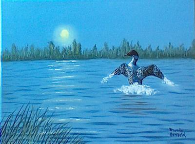 Loon Dance Art Print