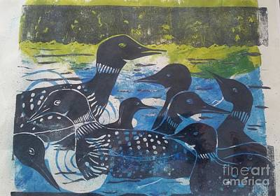 Mixed Media - Loon, I See by Cynthia Lagoudakis