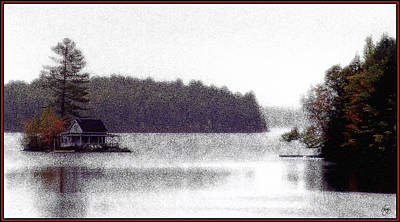 Photograph - Loon Island Misty Mindscape by Wayne King