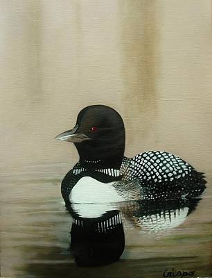 Painting - Loon by Jean Yves Crispo