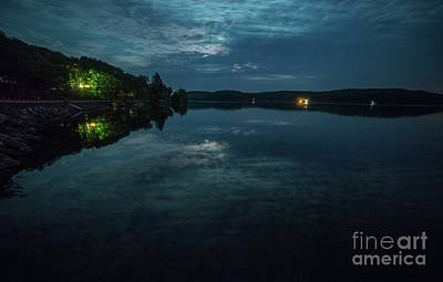 Photograph - Loon Lake By Moonlight by Roger Monahan