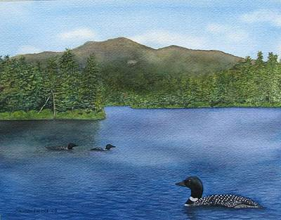 Loon Lake Art Print by Sharon Farber