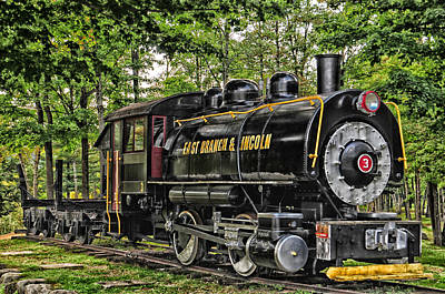 Photograph - Loon Mountain Logging Locomotive by Mike Martin
