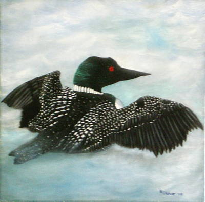 Loon Art Print by Rebecca  Fitchett
