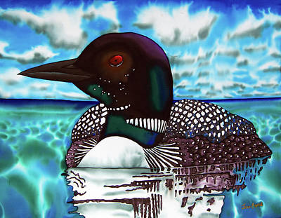 Painting - Loon Under A Canadian Sky by Daniel Jean-Baptiste