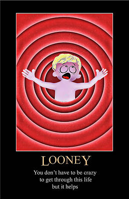 Digital Art - Looney by John Haldane
