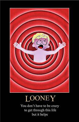 Digital Art - Looney by John Haldane