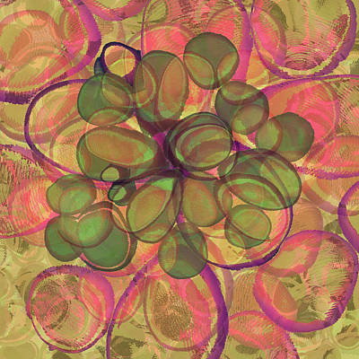 Digital Art - Loopy Dots #20 by Kristin Doner