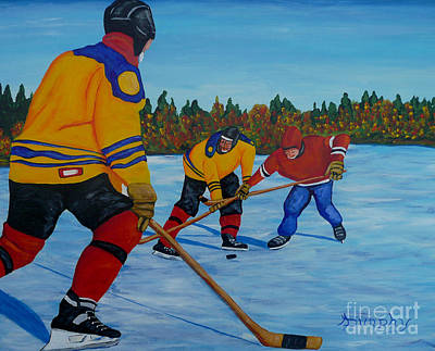 Painting - Loose Puck by Anthony Dunphy