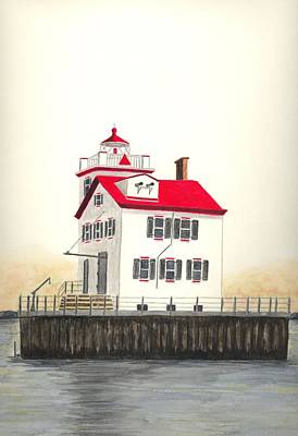 Lake Erie Wall Art - Painting - Lorain Lighthouse by Michael Vigliotti