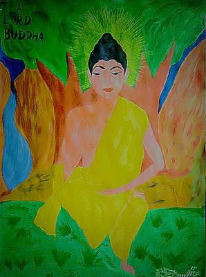 Buddha Sketch Drawing - Lord Buddha by Rahul Gautam