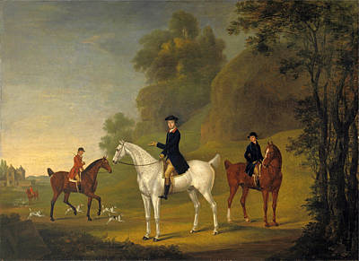 Harrier Painting - Lord Bulkeley And His Harriers His Huntsman John Wells And Whipper-in R.jennings by Thomas Stringer