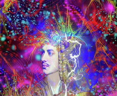 Digital Art -  Lord Byron by Matthew Lacey