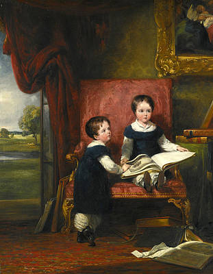 Painting - Lord Charles And Lord Thomas Pelham Clinton Twins Sons Of The 4th Duke Of Newcastle-under-lyne by William Collins