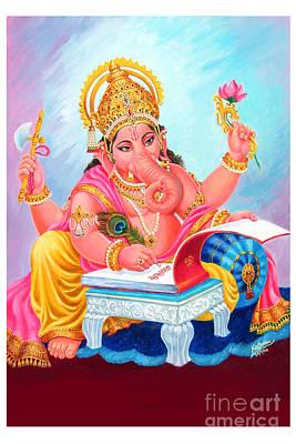 Lord Ganesh Art Print by Kalpana Talpade Ranadive