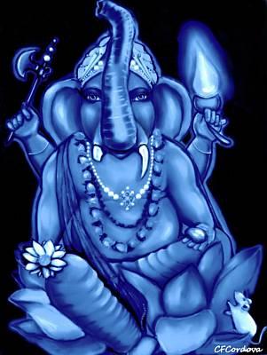 Ganesh Digital Art - Lord Ganesh -remover Of Obstacles  by Carmen Cordova