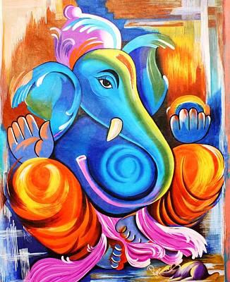 Lord Ganesh  Art Print by Rupa Prakash