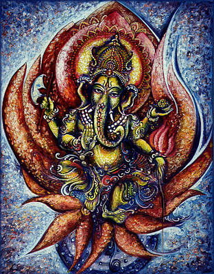 Devotional Painting - Lord Ganesha 1 by Harsh Malik